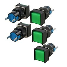 Pilot Signal Lamp DC12V 2Pin Green Square Neon Indicator Light 5 Pack
