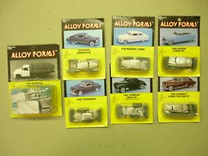 7 - HO Alloy Forms white metal vehicle kits.