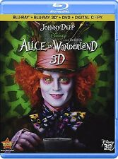 Alice in Wonderland (Blu-ray/DVD, 2010; 3D) *Includes 3D Slipcover*  NEW
