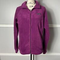 Columbia Women's Full Zip Up Purple/Plum Fleece Jacket w/ Pockets- EOC, Large