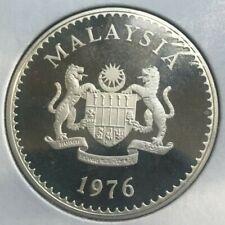 1976 Malaysia 15 Ringgit Silver Proof - Slight Milkiness on Reverse