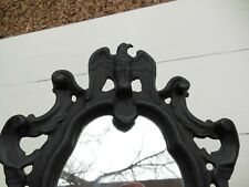 "Vintage 17"" Iron Art Co. Cast Iron American Eagle Mirror Black Excellent Cond!"