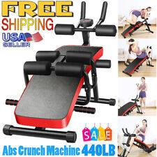 Adjustable Sit Up Abdominal Bench Gym Abs Crunch Training Home Exercise Fitness