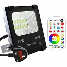 Jayool LED Floodlight Outdoor,15W Colour Changing Flood Lights with Remote, 120