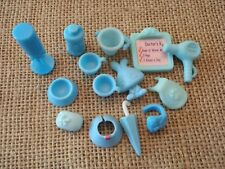 "Littlest Pet Shop ""Colors of the Rainbow"" Blue Accessory Lot! Cups Drinks D36"