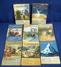 Lot of 8 Omnibook Magazines 1945 1946 Sinclair Popkin Remarque Lewis Maurier etc