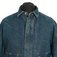 Vintage LEVI'S Blanket Lined Zip-Up Denim Jacket | Retro Jean Trucker Wash Coat