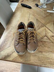 Ecco Yak Natural Motion Brown Leather Spikeless Golf Sjoes Size 10.5UK