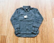 BNWT Cushman Lot 25353 Striped Round York Work Shirt Size S