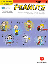 """PEANUTS"" INSTRUMENTAL PLAY-ALONG MUSIC BOOK/AUDIO ACCESS ""VIOLIN"" NEW ON SALE!!"