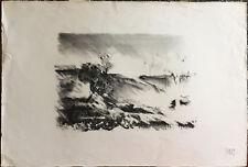 GIUSEPPE AJMONE litografia Paesaggio 50x70 firmata numerata timbro a secco