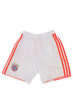 Adidas Bayern Munchen Vintage Polyester Football Sports Shorts  White S SO0233