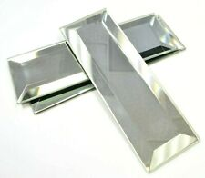 2x6 Wide Beveled Subway Mirror Tile Backsplash Wall Decorative Kitchen Bath