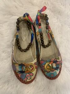 A Bohimian sandals handmade  shoes boho chic flats EUR 41