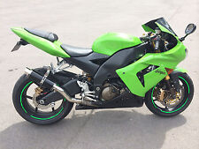 Kawasaki ZX10R 04-05 Exhaust SP Engineering Satin Black Stubby Moto GP