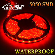 Pure Red 5M 5050 SMD Flexible 300 LED Strip Light Car Garden DIY Waterproof 12V