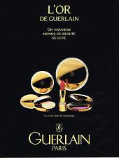 PUBLICITE ADVERTISING 045  1991   GUERLAIN  cosmétiques L'OR