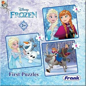 Disney Frozen First Puzzles- A Set of 3 Jigsaw Puzzles, For 3+ Years Kids(18pcs)