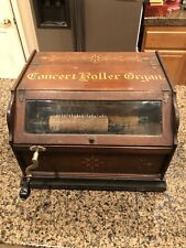 Antique Concert Roller Organ Copyright 1887 Hand Crank Victorian Music Box Works