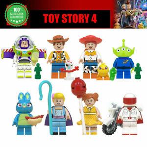 8Pcs Toy Story 4 minifigures Forky Buzz Lightyear Woody Bunny Jessie Mini Figure
