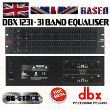 dbx 1231 - Dual Channel 31-Band Equalizer, 3U, TRS and XLR Connectors, Studio EQ
