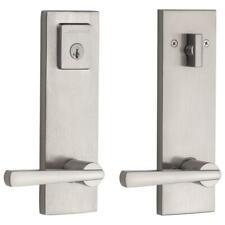 183 SPEXSPL Spyglass Baldwin Satin Nickel Entry Door Handleset SmartKey (Scuffs)
