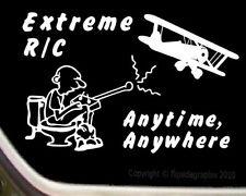 "RC ""Biplane"" R/C Airplane Cartoon Decal-Sticker R/C-011"