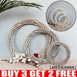 Christmas Rattan Garland Vine Wreath Wicker Ring Wedding Xmas Party Home DIY