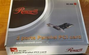 Rosewill RC-304 Port Serial PCI Adapter Ports Parallel PCI Card used, in box