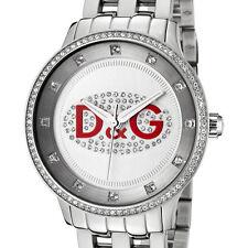 Dolce & Gabanna DW0144 D&G Prime Time Silver Unisex Mens Ladies Watch