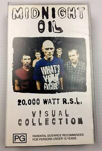 VHS  MUSIC VIDEO TAPE - MIDNIGHT OIL 20000 WATT RSL