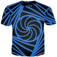 New Fashion Men's Women's Hypnosis Line 3D Print Casual T-Shirt Tee