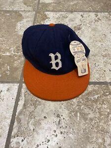 Ebbets Field Brooklyn Bushwicks MiLB Baseball Cap Team fitted hat 7 5/8 New