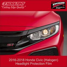 Headlight Protection Film by 3M for the 2016-2019 Honda Civic (Halogen Lights)
