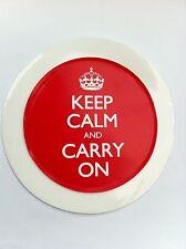 Keep Calm And Carry On Car Tax Disc Holder New Reusable Residents Permit Waist