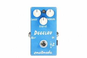 USED CMATMODS DEEELAY DELAY GUITAR EFFECT PEDAL w/ FREE CABLE FREE US SHIPPING