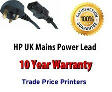 UK Mains Power Lead Cable Cord For HP Deskjet Printer Select Model In Advert