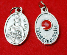 St. LUCY RELIC MEDAL - WITH CLOTH TOUCHED TO HER RELIC