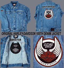HARLEY DAVIDSON 105TH ANNIVERSARY L/S DENIM JACKET (XL)
