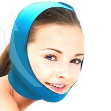 New Beauty Mask Face Skin Chin Jaw Lift Up Warm Belt Band 3-Layered Blue i