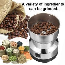 220V Electric Coffee Grinder Grinding Whole Bean Nut Spice Matte Blender DIY UK