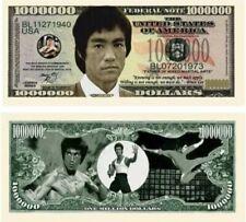Bruce Lee Kung Fu Karate Collection 1 Million Novelty Dollar Bill 25 Pack
