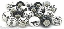 20 These Please Ceramic Door Knobs SECONDS Vintage Look Mixed Black & White ZS21