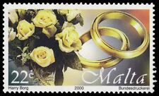 """MALTA 1002 - Greetings Stamps """"Roses and Wedding Rings"""" (pa42266)"""