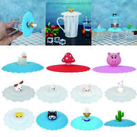 Silicone Cup Lid Drink Tea Cup Cover Anti-dust Coffee Mug Suction Seal Gadgets