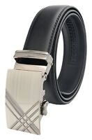 QHA Mens Automatic Ratchet Belt For Men Luxury Fashion Waist Auto Buckle Gift