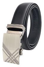 QHA Mens Automatic Ratchet Belt For Men Luxury Fashion Waist Auto Buckle Gift