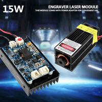 15W 450nm Blu-ray Laser Module TTL/PWM With Fan For Laser Cutter Engraver DIY