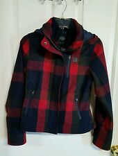 NWT Harley Davidson women's jacket, plaid, slim fit, small, red, navy, black