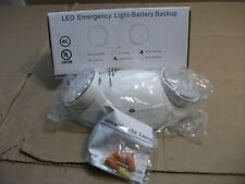 LED Emergency Exit Light Battery Backup & Adjustable Two Round Heads+